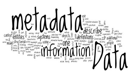 Semi-structured or unstructured data? Metadata