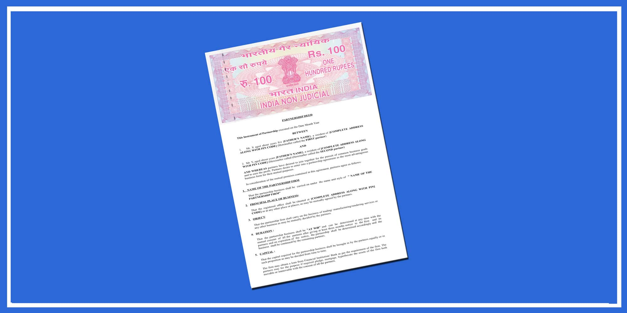 This agreement is between the company and the sales partner. Partnership Deed Format Sample In India Enterslice