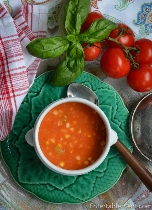 Shaker Corn Tomato Soup