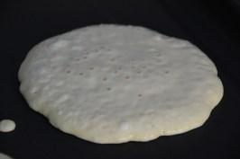 Plain pancake ready to flip
