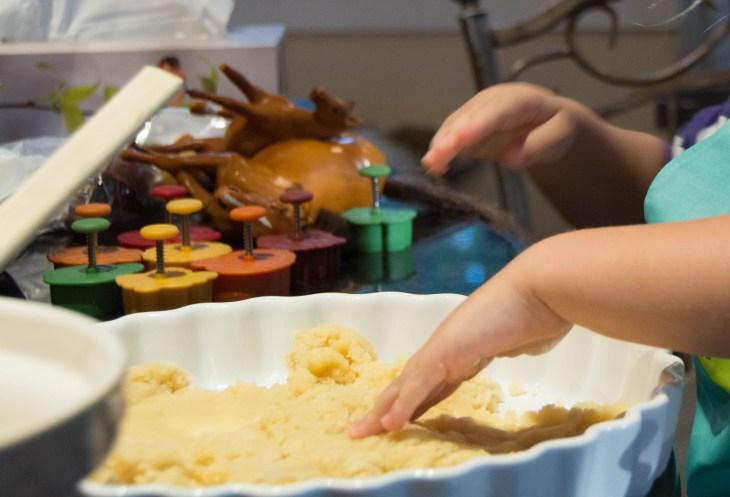 Press the crust into a ceramic pie plate