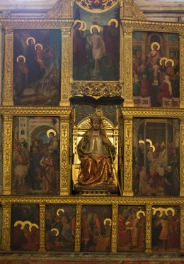 A painted panel n one of the side chapels