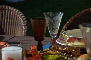 Amber twist and Julia glassware