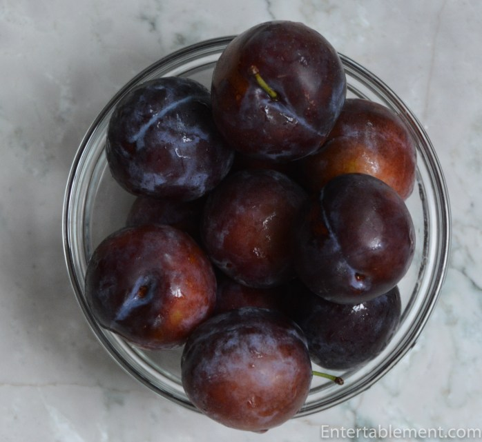 Purple Italian plums begin appearing at summer's end