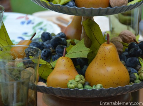 Grapes and green base filler