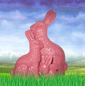 Berry Flavored Easter Bunnies