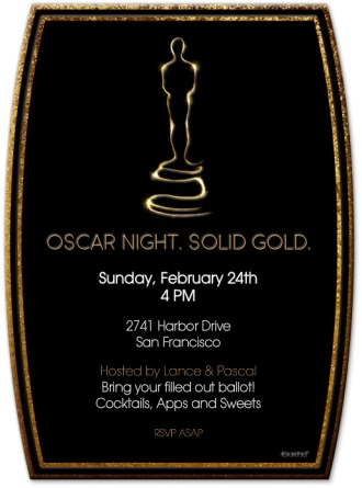 Solid Gold Oscar Invitation
