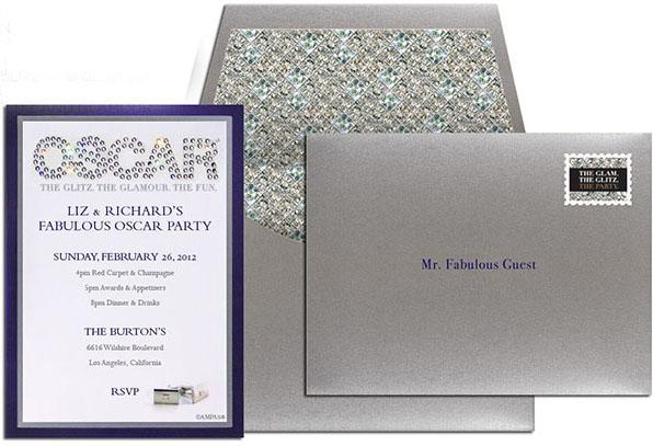 Oscar Swarovski Crystal Studded Glitz & Glamor Invitation