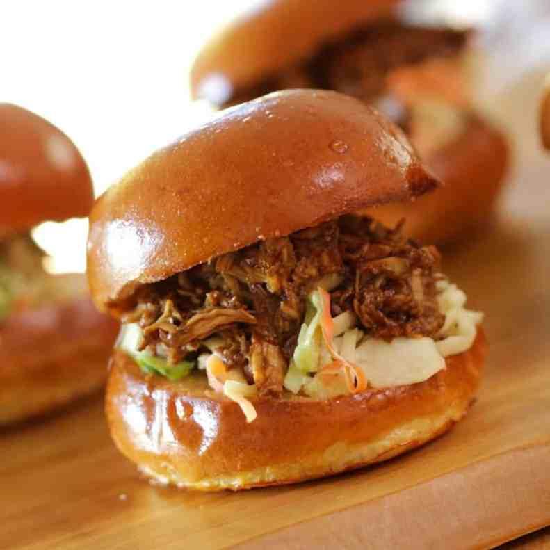 BBQ Chicken Slider Recipe | Entertaining with Beth