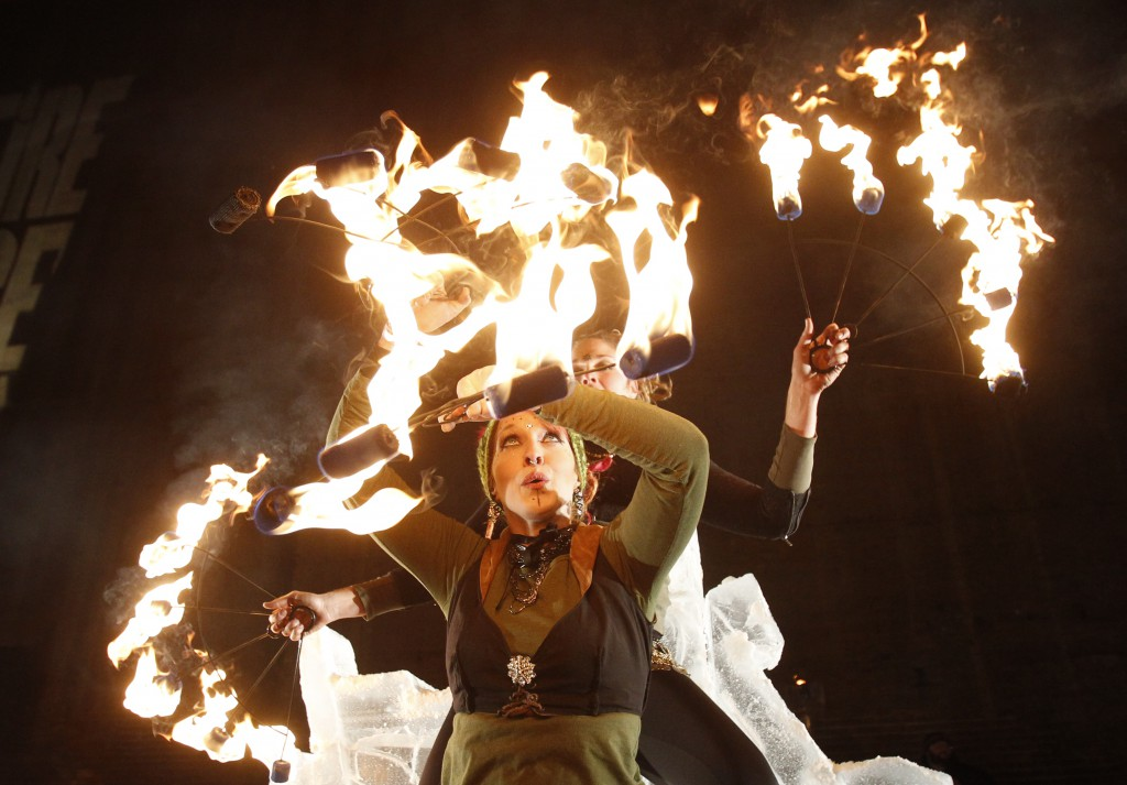 """""""Light-Up Night"""" takes on a new meaning with Steel Town Fire."""