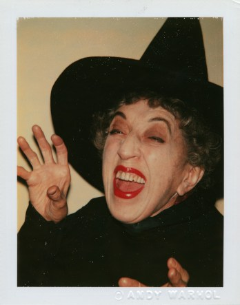 Which witch? Yep, that's the wicked one, posing for a Warhol Polaroid in 1980.