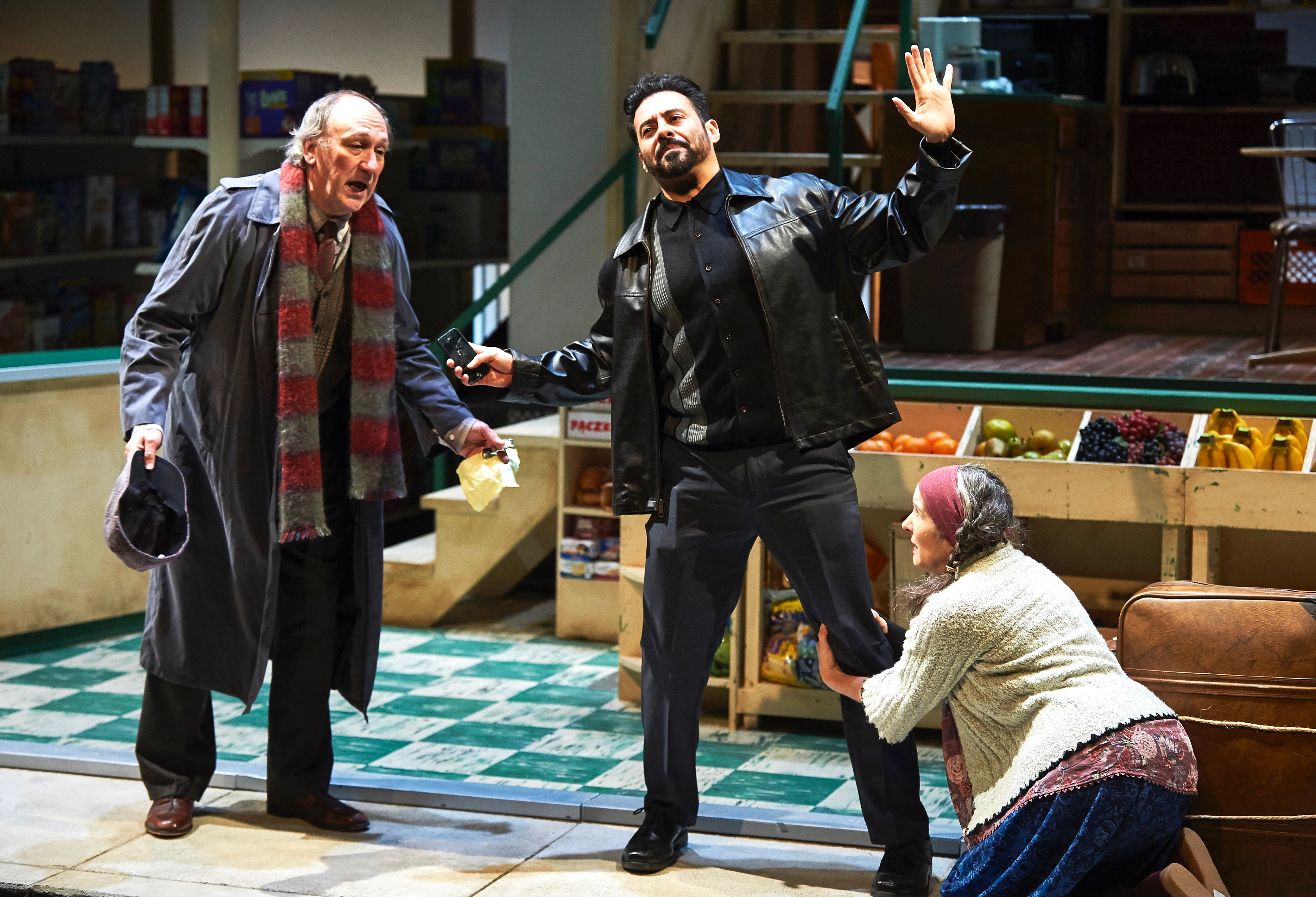 Bogdan (Jeff Howell, L) and Morfina (Ann Talman) beg for succor, and you know what Jesus (Juan Francisco Villa) would do.