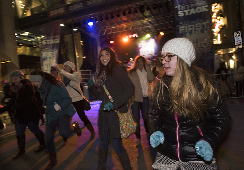 Kristina Martone, age 12, of Cranberry joins others in soul line dancing.
