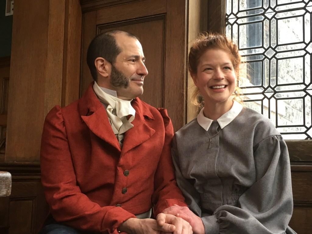 Mr. Rochester (Paul Bernado) shares a moment with Jane Eyre (Karen Baum). Photo: PICT Classic Theatre.
