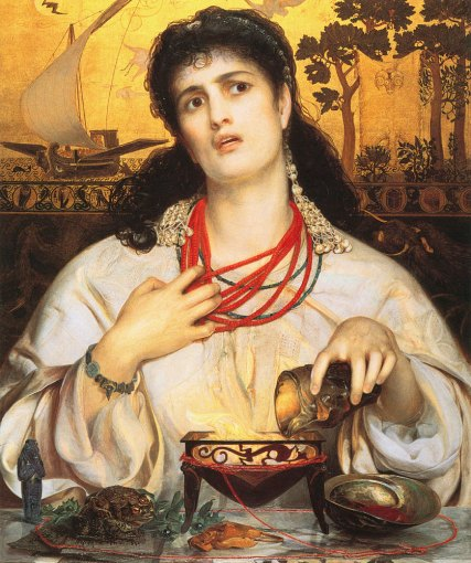 Medea, one of the formidable women in 'Medea / Shulie,' as imagined by 19th-century painter Frederick Sandys.