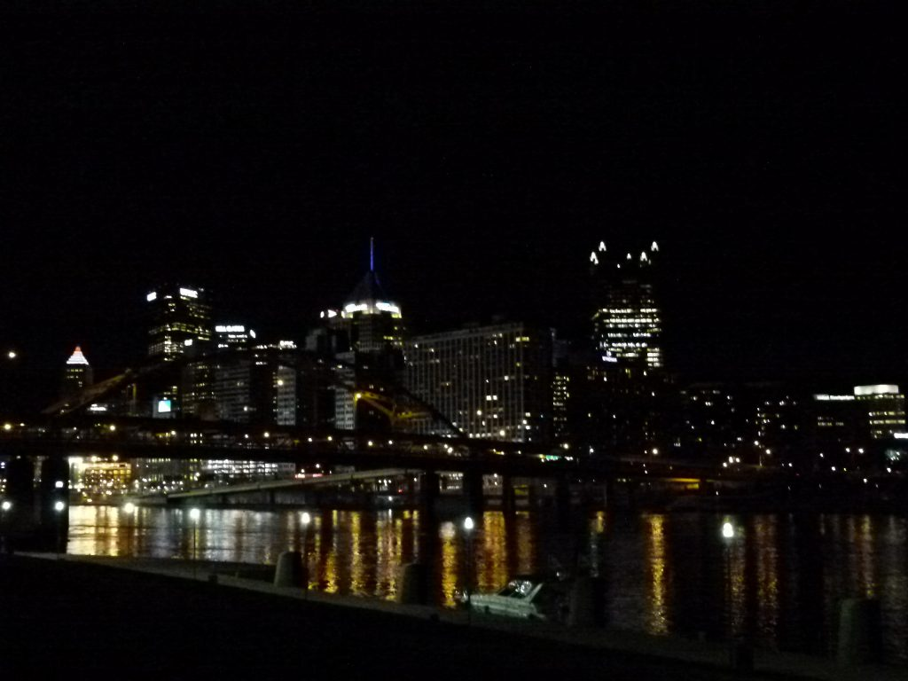 Downtown Pittsburgh looks especially beautiful from the North Shore at night.