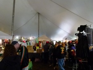 One of the two Marketplace tents.