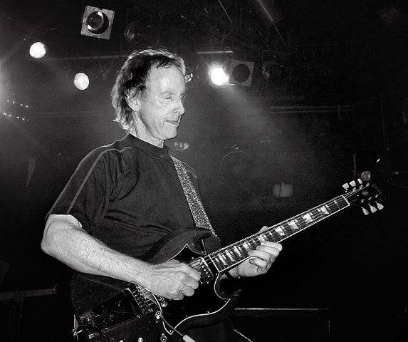 Robby Krieger playing his Gibson SG guitar at a performance in London in 2007. photo: Caroline Bonarde Ucci.