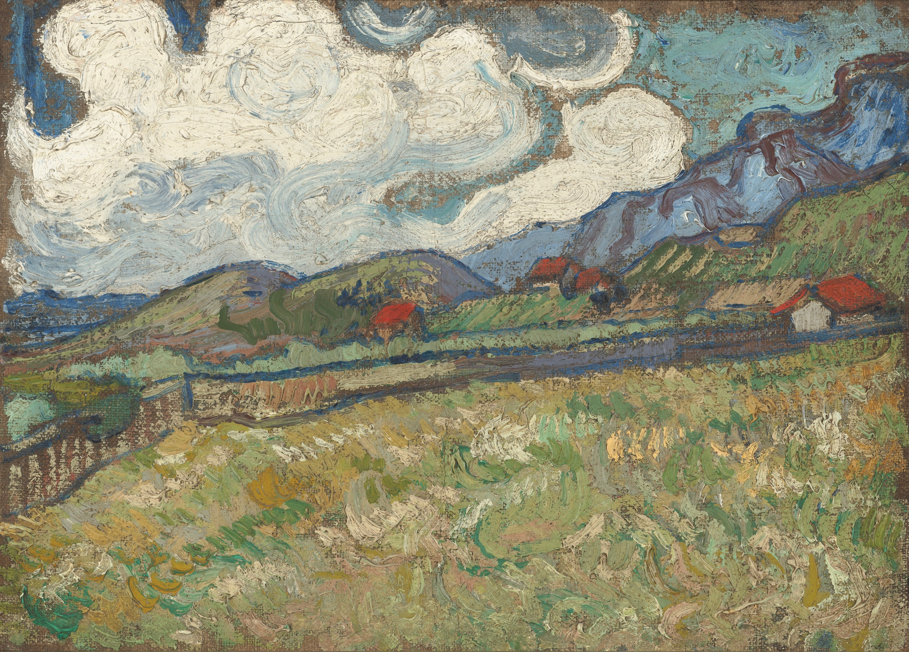 Painted during Van Gogh's final great surge of work, 'The Wheat Field behind St. Paul's Hospital, St. Rémy' stirs the senses.
