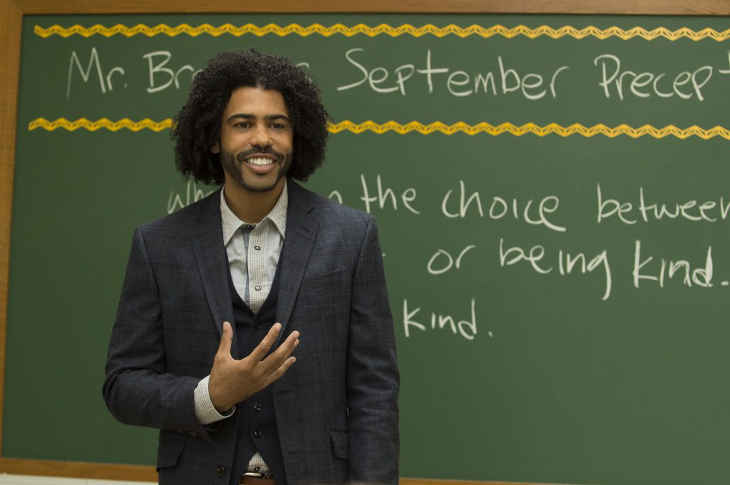 Daveed Diggs as the teacher Mr. Browne.