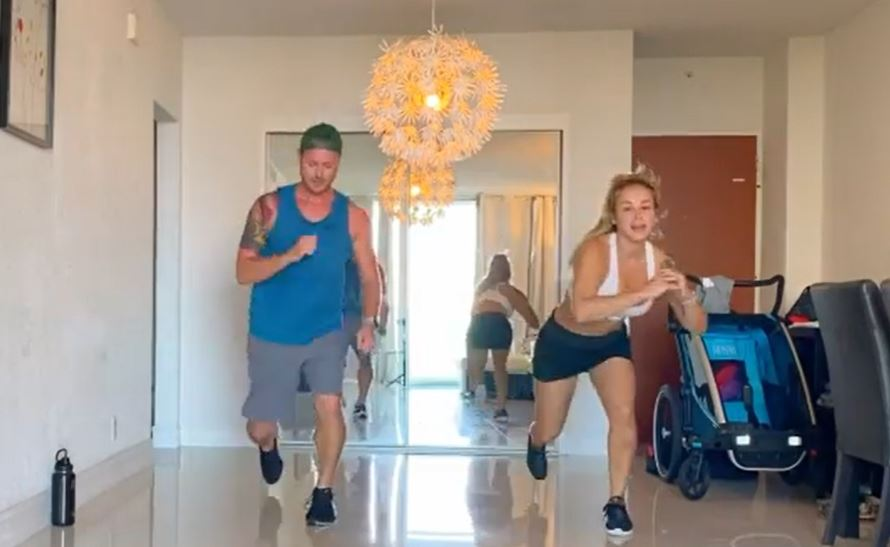 90 Day Fiance Russ Mayfield Paola Mayfield Working Out Instagram
