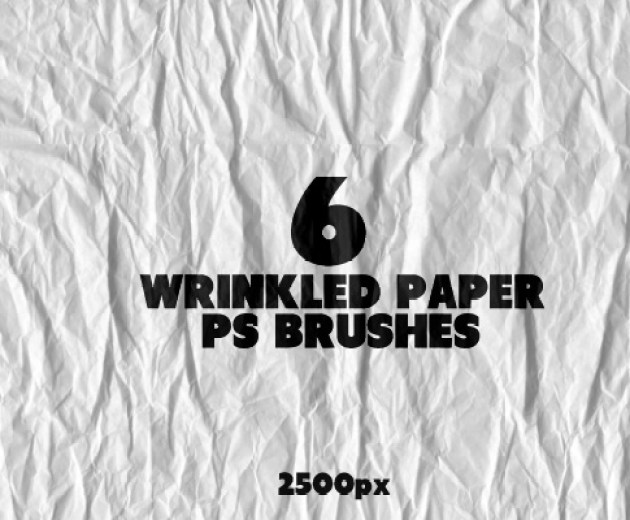 6 Wrinkled Paper PS Brushes