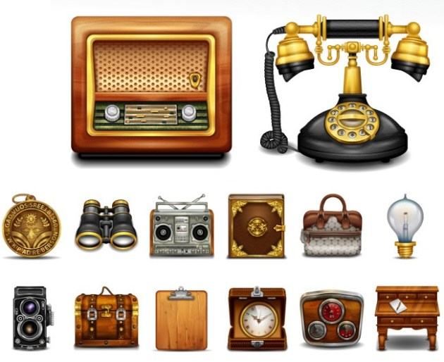 Vintage and Retro Icons
