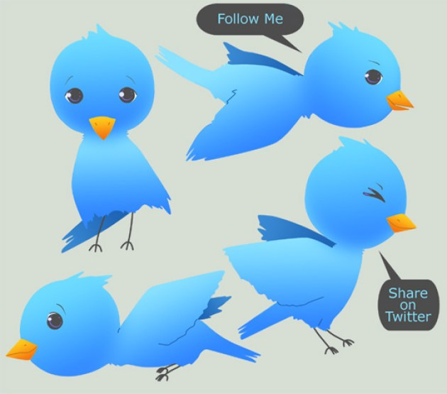 18 Twitter Icon Set