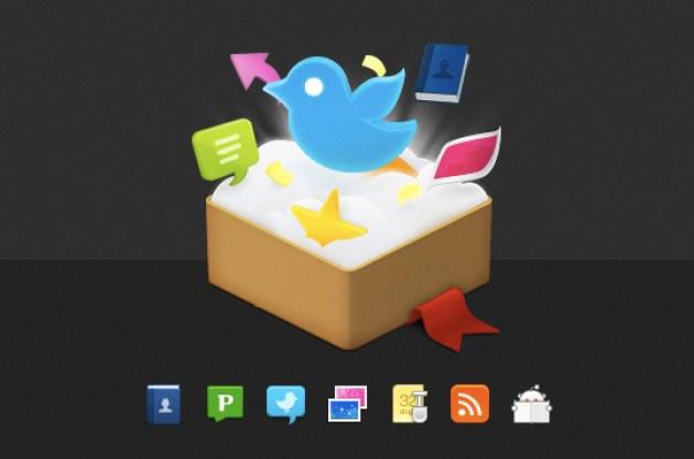 25 Twitter Icon Set