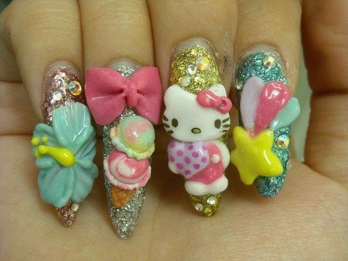Hello Kitty Nail Art Design Ideas Entertainmentmesh