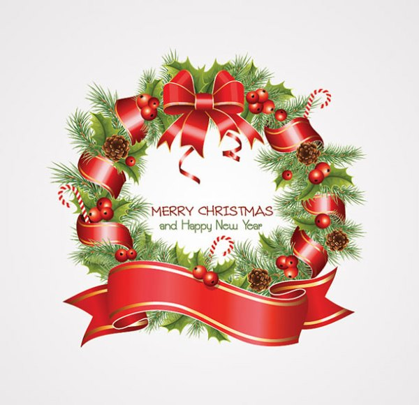 christmas wreath graphic design wallpaper background