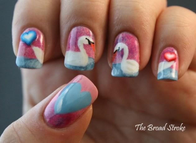 Cute Valentine's Day Nail Art