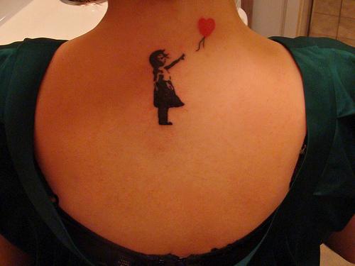 Balloon Banksy Girl