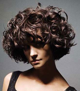 Curly Stylish Haircut