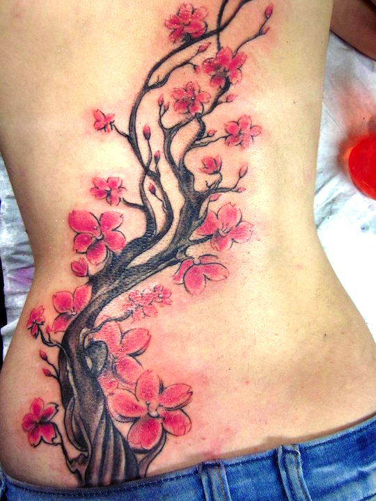 Cherry Blossom Tree Flower Tattoo