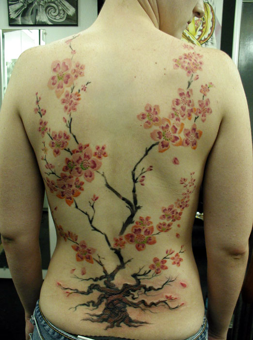 Cherry Blossom Back piece