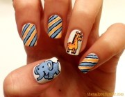 cute and adorable animal nails