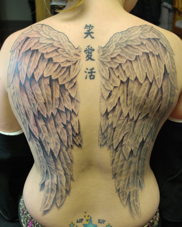 Full Back Wings Tattoo
