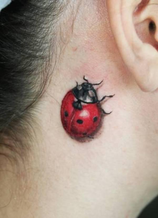 Ladybug 3D tattoo