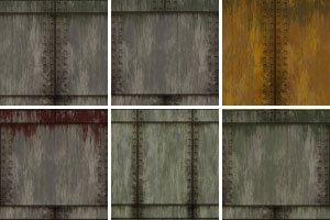 Wall Metal Plate Seamless Tiling Patterns