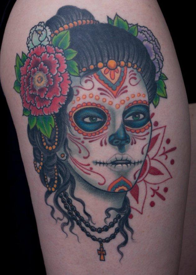 25 Cool And Creative Thigh Tattoo Designs Entertainmentmesh