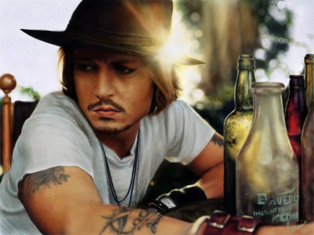 Digital Painting - Johnny Depp