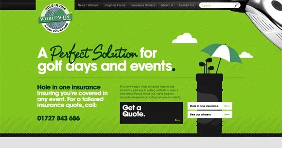Green Website Design - Hole In One