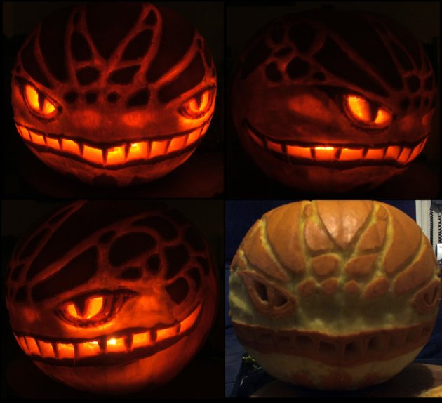 Spooky Pumpkin Carving Idea