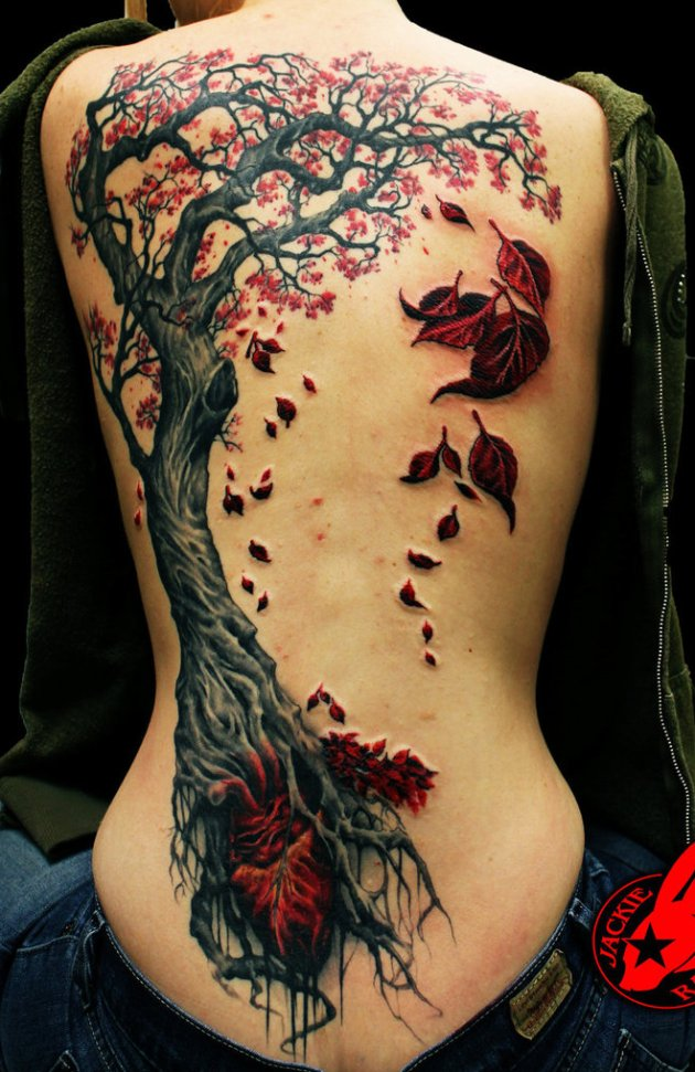 Heart Tree Tattoo by Jackie Rabbit