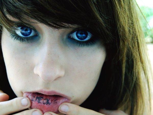 inner lip tattoo