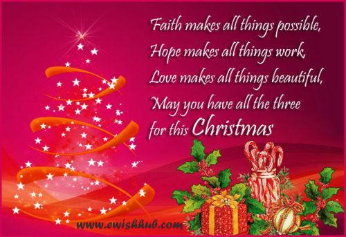 Christmas Message Greeting Cards