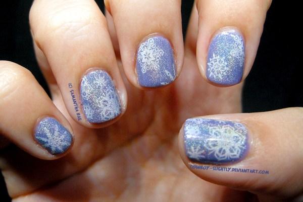 Chrismtas Nail Art Snowflakes