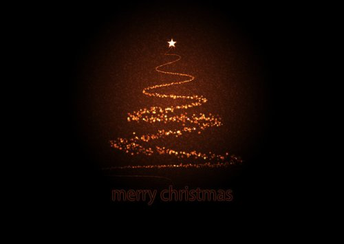 Starry Xmas Tree Greeting Card