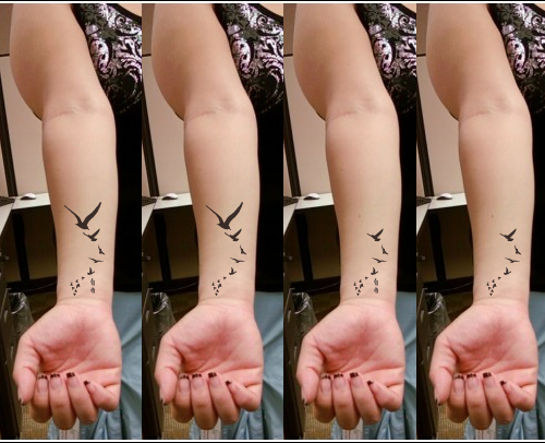 Wrist Tattoo - Bird - Freedom